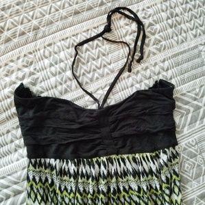 Tribal Strapless Maxi Dress